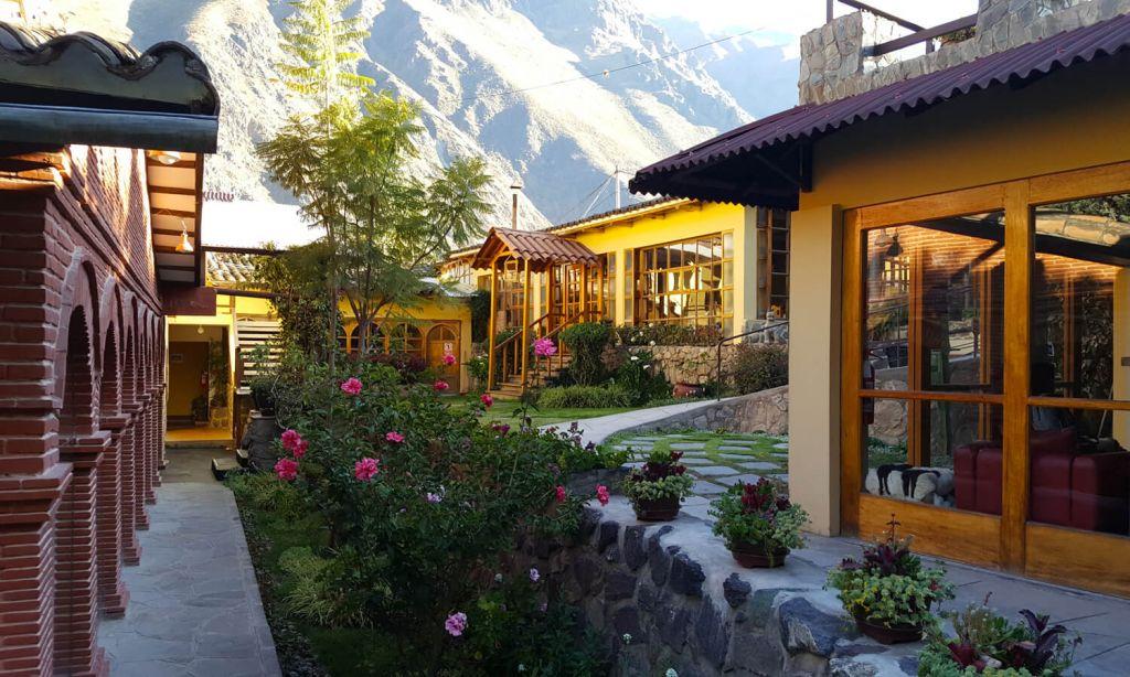 Garden at Hotel Samanapaq Ollantaytambo